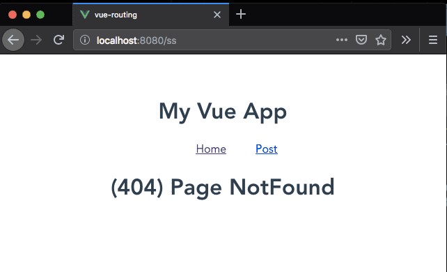vue 404 page