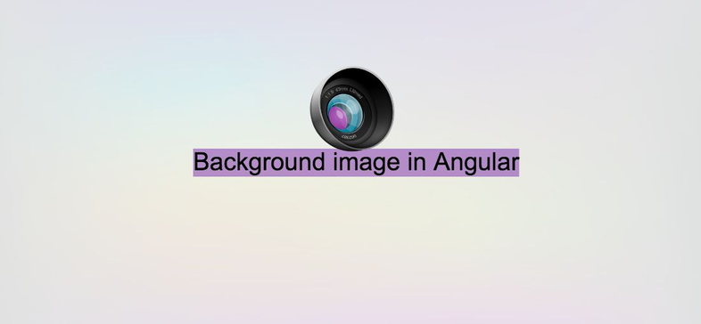 How to set a background image in Angular
