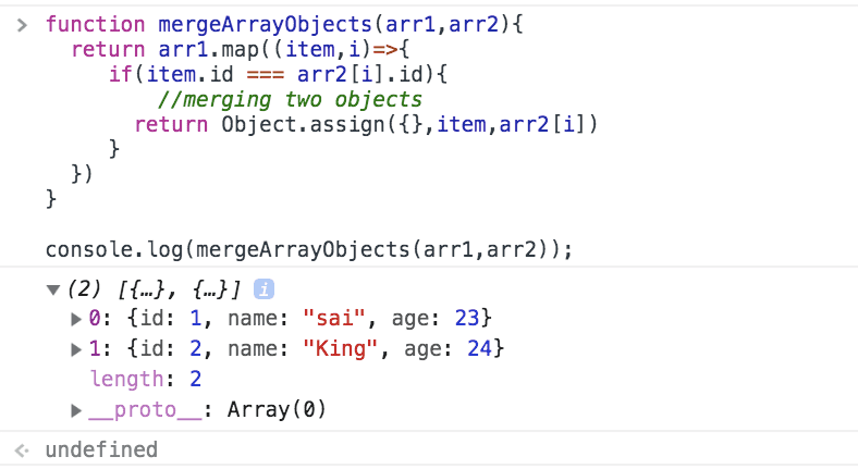 js-merge-array-objects example