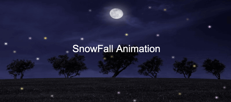 How to create snowfall animation using css and JavaScript