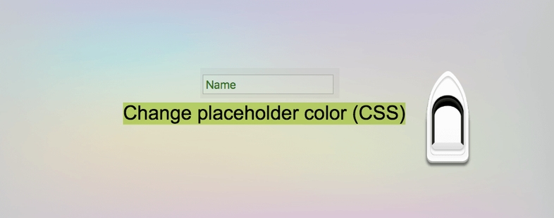 How to change input element placeholder color in css