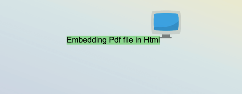 Embedding Pdf file in Html (Without JavaScript)
