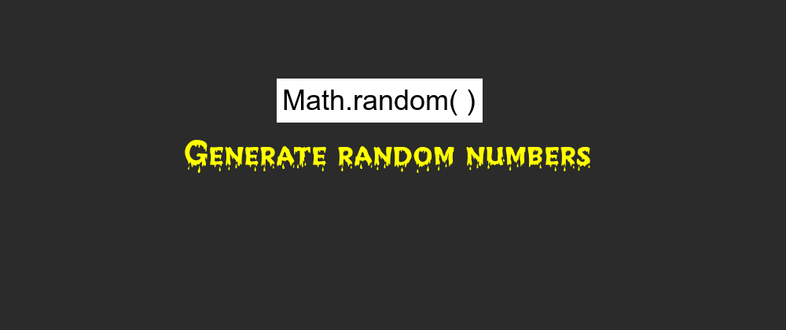 How to generate random numbers in JavaScript